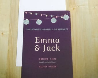 Lantern Love Wedding Invitation