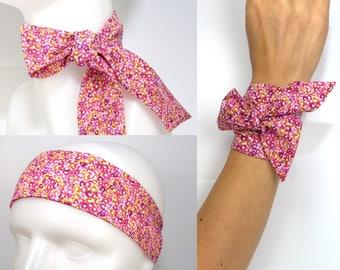 Twilly = Headband + Bracelet + Scarf + Neckerchief + hat band + neck bow .... wrap wrist, skinny, hair tie, lilac, mauve, purple, rose