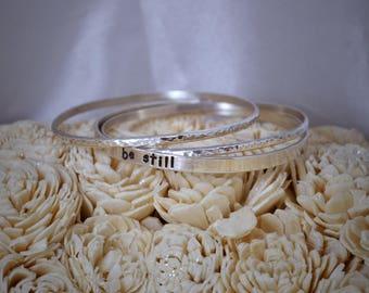 Bangle Bracelet Sterling Silver Personalized Item #PBB