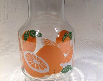 Vintage Anchor Hocking pitcher orange juice glass - citrus lemonade / / gift for the summer / / made in the United States