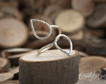 Elise - Adjustable Ring, Sterling Silver