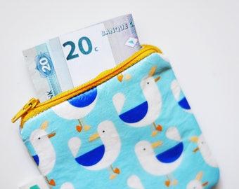 Seagull purse - woolfelt inside