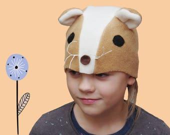 Kids hamster costume, Halloween costume kid, animal costume hat, kids dress up hat, toddler pretend play, toddler costume