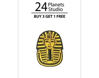 Mini Tutankhamun's Mask Iron on Patch by 24PlanetsStudio