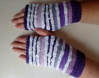 Beautiful fingerless gloves made knit