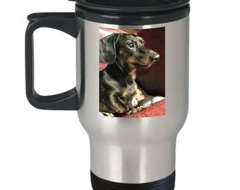 CUSTOMIZED Travel Mug! Photo of Pet, Grandchild, Kid, Spouse, Car, Motorcycle, Flower! Send me a Photo, and I'll Create A Wearable Treasure!