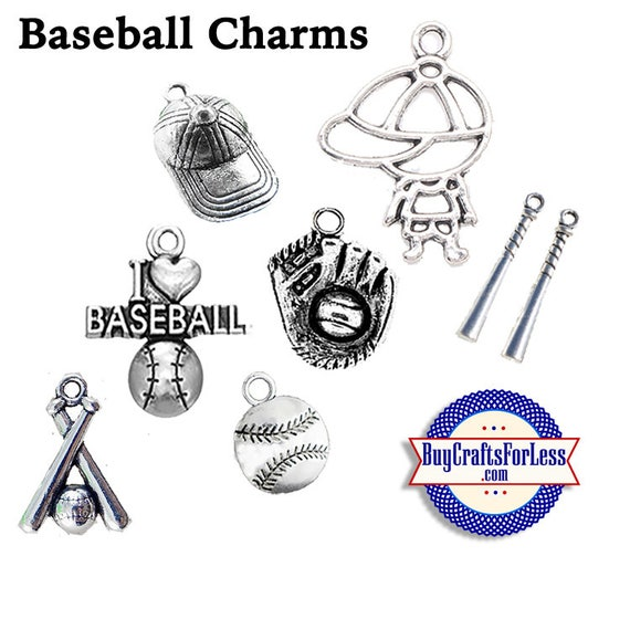 BASEBALL CHARMS, Choose from 7 Styles +FREE SHiPPiNG & Discounts*