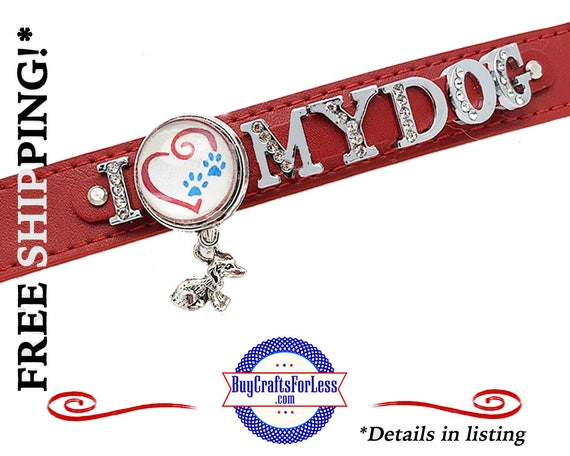 LoVE My DOG Bracelet, Double LEATHER, Very NiCE- Gift box available  +FREE Shipping & Discounts*