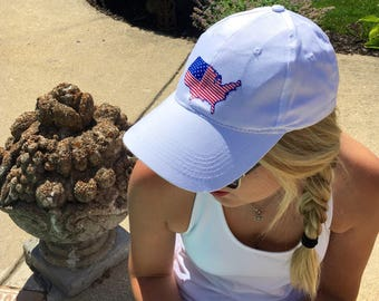 Monogram USA hat