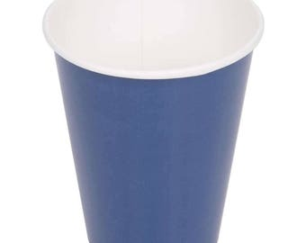 50 Ct Navy Poly Paper Cups 9oz Hot/Cold, Party Supplies, Wedding Supplies, Party, Wedding, Paper Cups, Beverage Cups, Cups, Supplies