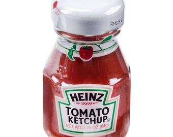 12 Ct 2.25oz Mini Ketchup Glass Bottles, Mini Bottles, Favors, Party, Condiments, Food Jars, Condiment Bottles, Mini Bottles, Party Favor