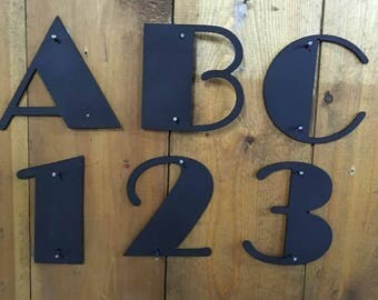 14 24 Theater Broadway Large Metal House Numbers Artistic House