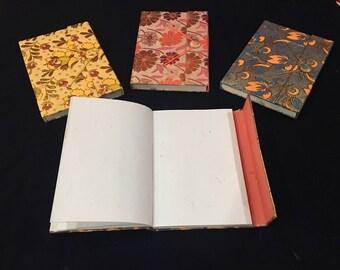 Tibetan handmade Diaries with silk needlework - Recycled Paper