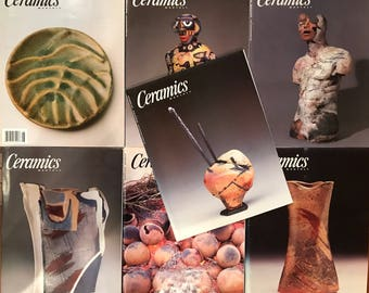 Ceramics Monthly Magazines - 7 Issues from 2001