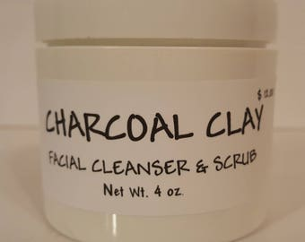 Charcoal Clay Facial Cleanser & Scrub
