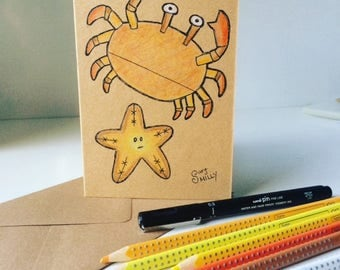Hand Illustrated Eco Card - Erik & Dot