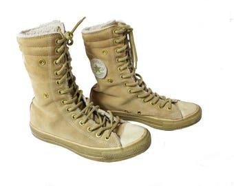 Converse shoes, Converse high tops, Lace up boots, Suede Converse, Leather sneakers, Vintage leather sneakers, Leather  / EUR 38, US 8 ,UK 6