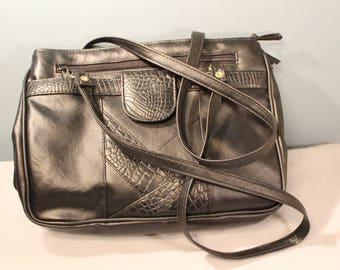Vintage 90's Black Leather Purse