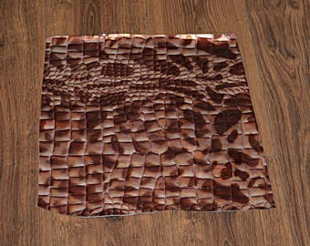 Croco Brown Cowhide Leather Coupon (9011226)