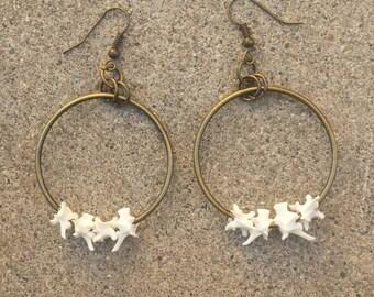 Rattlesnake Vertebrae Hoop Earrings