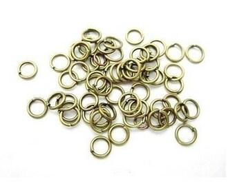 anneaux bronze 4mm -  les 10