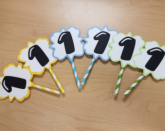 Number or Name Cupcake Toppers