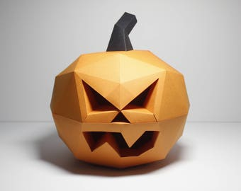 Pumpkin Halloween Decorations   Papercraft Jack-o lantern   Halloween Paper Pumpkin   DIY