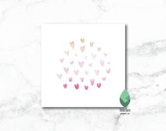 Watercolour Valentines Day Cards