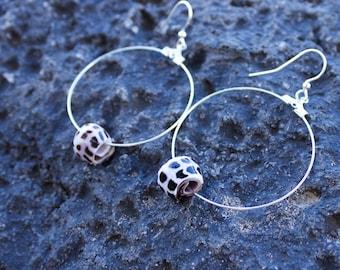 Sea Shell Earring, Hebrew Cone Shell, Handmade, Hawaii