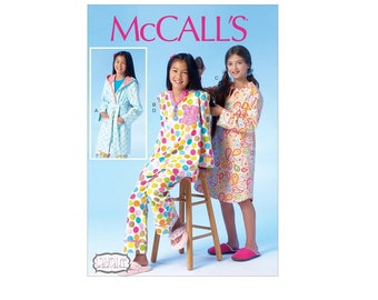 McCall's 7045 - Girls' Robe, Belt, Top, Dress, and Pants Pattern
