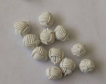 10 Asian deco garment size approximately 12 mm button