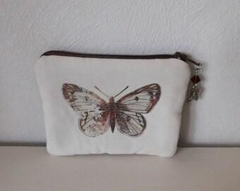 Brown Butterfly woman wallet