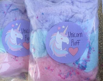 Unicorn Cotton Candy Favors (30) Cotton Candy Bags   Goodie Bags   Cotton Candy Gifts   Cotton Candy Favors   Fluff   Unicorn Theme