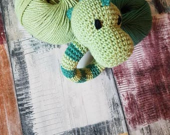 READY TO SHIP Adorable hand made Dinosaur rattle/toy for baby's and toddlers