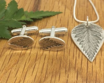 Silver Fern pendant, Silver Fern, pretty necklace for her, botanical necklace, botanical pendant, silver leaf necklace, fern leaf