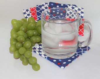 Patriotic fabric coasters (set of 6)