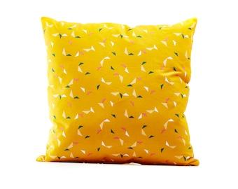 Yellow Confetti Zip Cushion