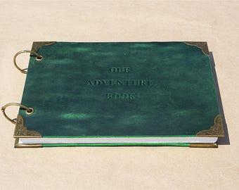 Our Adventure Book Memory Book, Wedding Album, Photo Book, Wedding Guest Book, Scrapbook Album, Leather journal, Blank Book