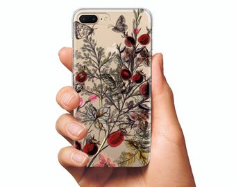 Wildflowers Case iPhone 8 case iPhone 8 Plus case iPhone X case iPhone 7 case iPhone 7 Plus case iPhone case clear Silicone case iPhone 6