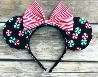 Peppermint Holiday Mouse ears