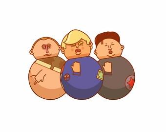 The Three Boys   Hilarious Trump Sticker