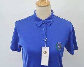 CHRISTIAN DIOR SPORT Shirt Vintage 90's Christian Dior Sport Polo Tee T Shirt Womens Size M