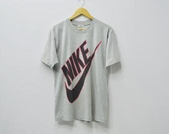 Nike Shirt Men Size M Vintage Nike Shirt 90s Nike Vintage Swoosh Big Logo Shirt Size M