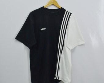 ADIDAS Shirt Vintage 90's Adidas Three Stripes Tee T Shirt Size L