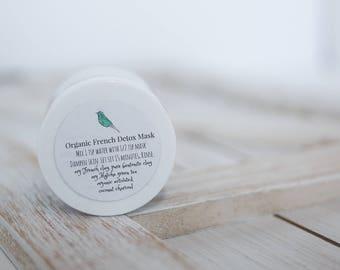 Organic French Detox Mask, Organic Facial Mask