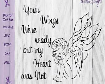 Angel svg, wings svg, rainbow baby svg, baby angel svg, keepsake svg, memorial svg, fcm, scanncut, quotes svg, svg file, wings svg, cricut