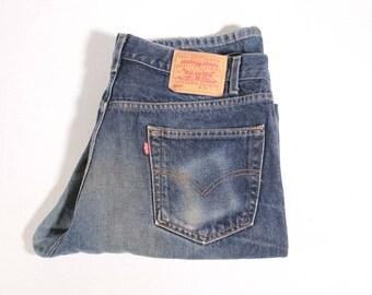 Vintage Levis 505 size 36x32 jeans excellent wear hige