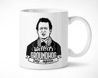 Groundhog Day-Cup exclusive mug/exclusive mug-caught time Bill Murray marmot 90s Harold Ramis Cinema movie Cinema movie