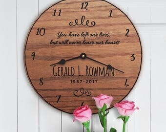 Sympathy Gift - Gift for Loss - Gift for Grieving - Celebration of Life Gift - Bereavement Gift - Mourning - Sympathy Gift Clock