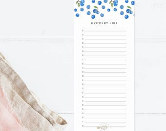 Blueberry Grocery List